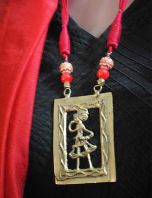 Dhokra Panel With Thread