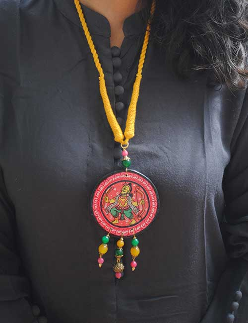 Product Pattachitra Wooden Necklace - An exclusive collection by Vipakka