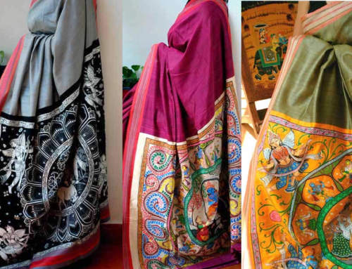 Rediscovering the Beauty of Traditional Indian Art Form through our latest Pattachitra Saree Collections