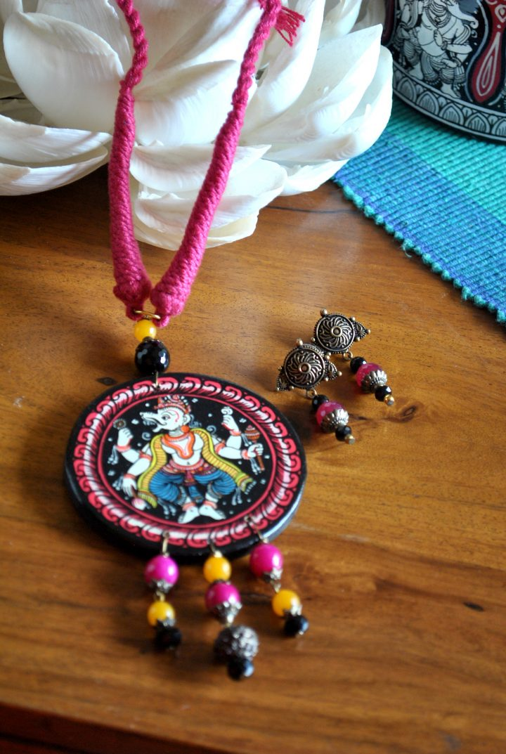 Wooden Patachitra Necklace 24