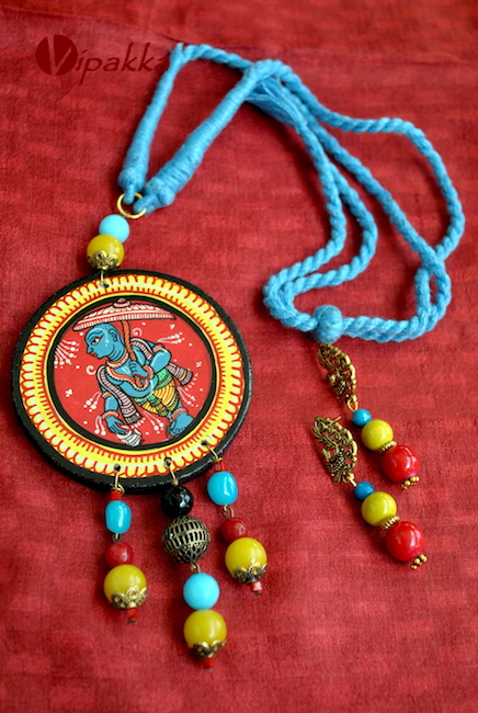 Wooden Pattachitra Necklace