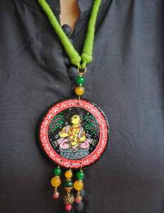 22788966_1688206781250729_7305810596189962654_n-1-231x300 Pattachitra Wooden Necklace - An exclusive collection by Vipakka