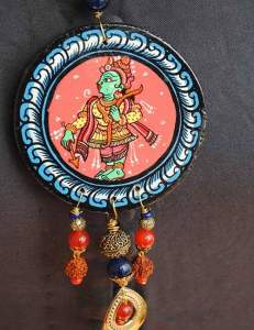 22853010_1688209347917139_5857101196822089023_n-231x300 Pattachitra Wooden Necklace - An exclusive collection by Vipakka