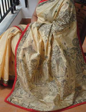 Handpainted Pattachitra Silk Saree
