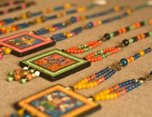 Pattachitra Wooden Necklace – An exclusive collection by Vipakka