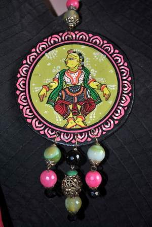 DSC_0741-300x447 5 Amazing ways to style your Pattachitra Necklace  - Tradition meets Trend