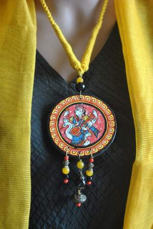 Vipakka_Handpainted-pattachitra-necklace-40-300x447 5 Amazing ways to style your Pattachitra Necklace  - Tradition meets Trend
