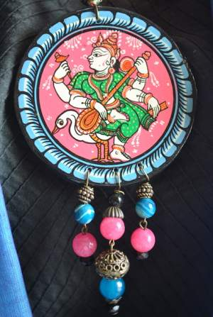 Vipakka_Handpainted-pattachitra-necklace-46-300x447 5 Amazing ways to style your Pattachitra Necklace  - Tradition meets Trend