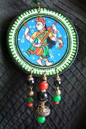 Vipakka_Handpainted-pattachitra-necklace-56-300x447 5 Amazing ways to style your Pattachitra Necklace  - Tradition meets Trend