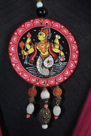 Vipakka_Handpainted-pattachitra-necklace-62-300x447 5 Amazing ways to style your Pattachitra Necklace  - Tradition meets Trend