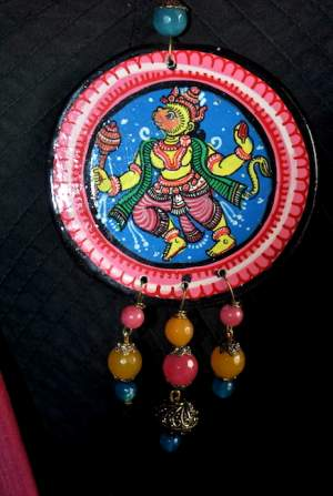 Vipakka_Handpainted-pattachitra-necklace-66-300x447 5 Amazing ways to style your Pattachitra Necklace  - Tradition meets Trend