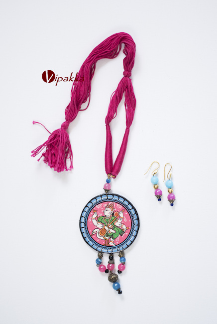 Wooden Patachitra Necklace 1