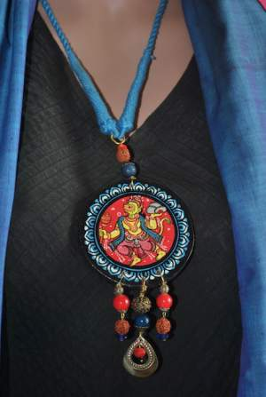 pic1a-300x447 5 Amazing ways to style your Pattachitra Necklace  - Tradition meets Trend
