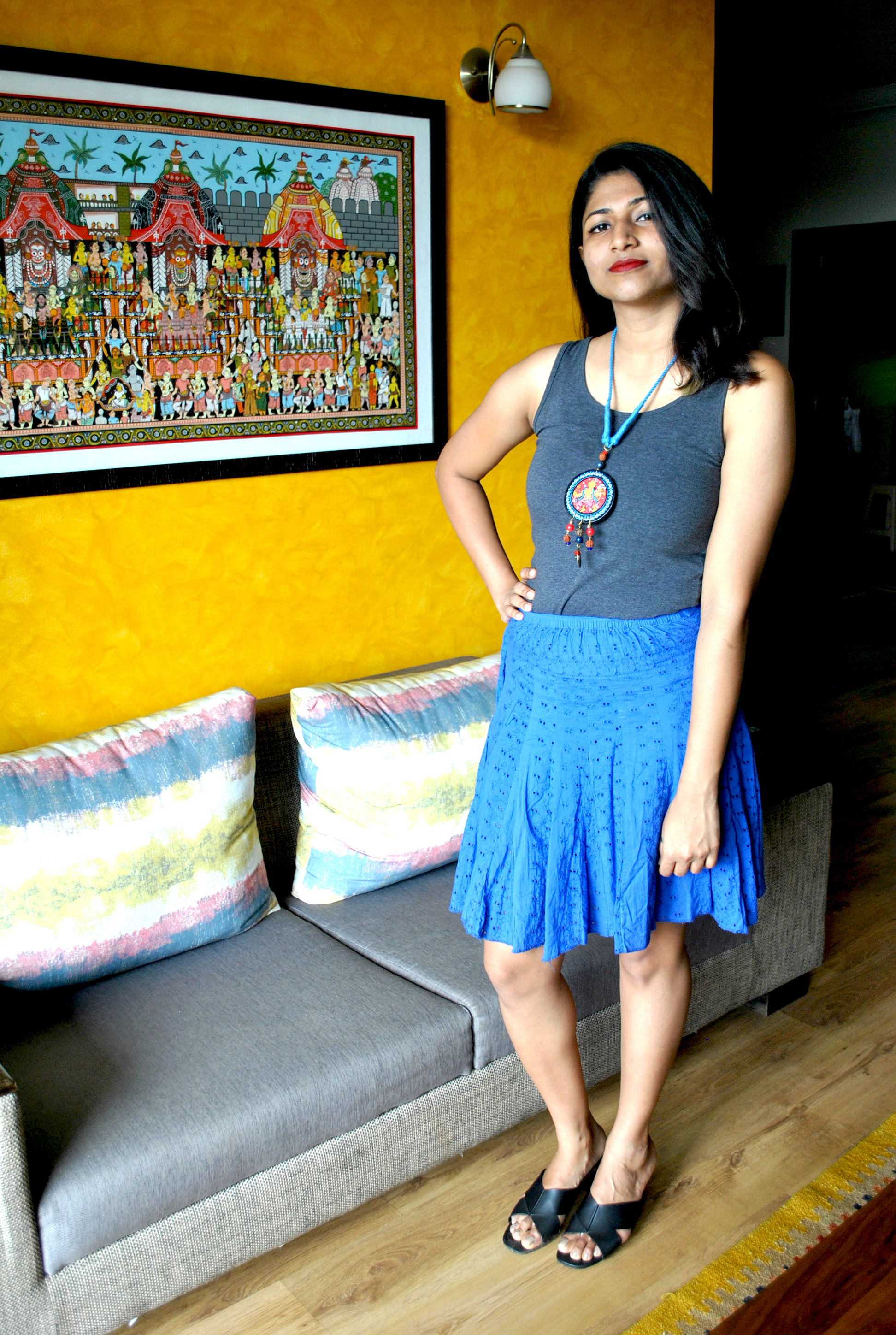 5-Amazing-ways-to-style-your-Pattachitra-Necklace1 5 Amazing ways to style your Pattachitra Necklace  - Tradition meets Trend