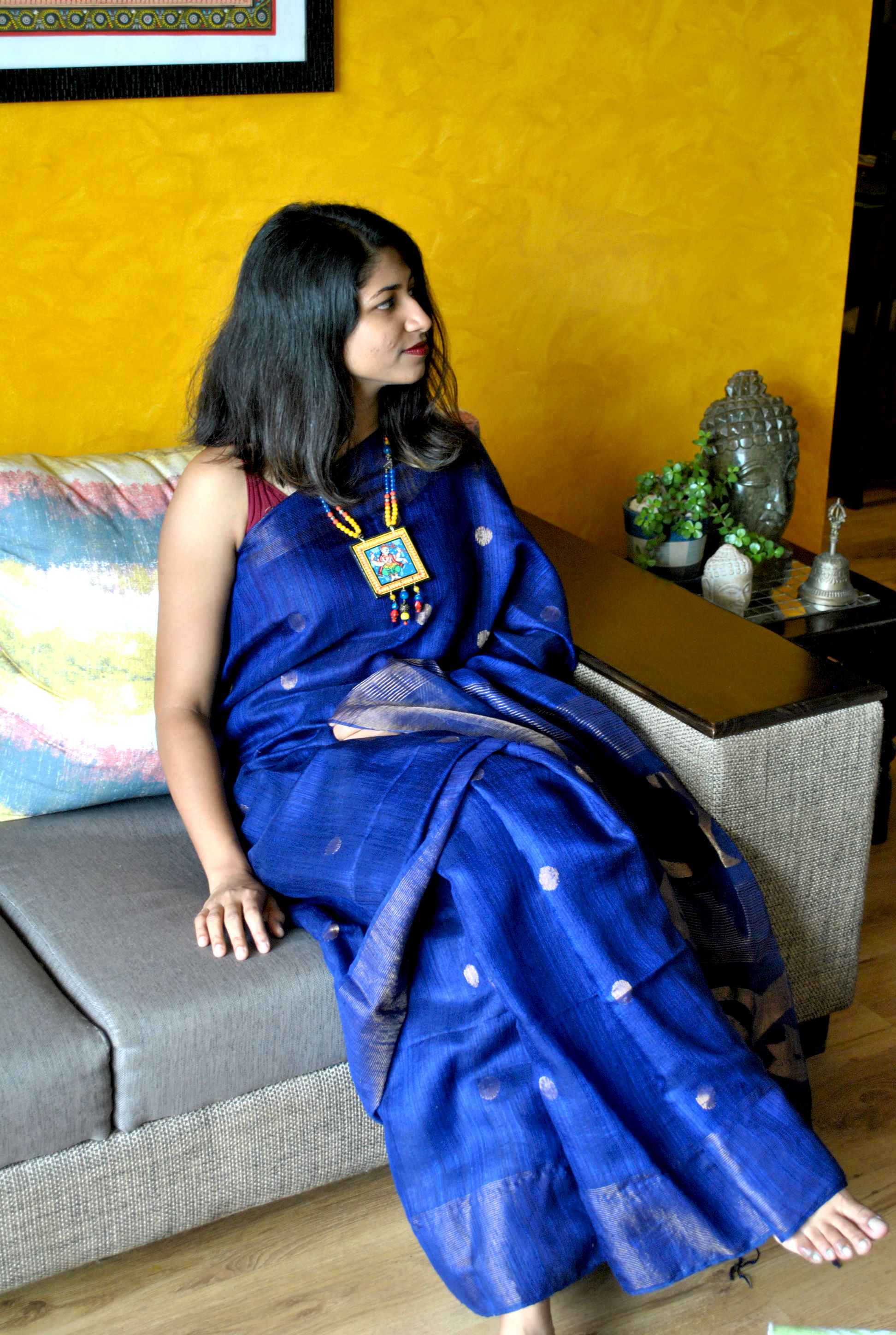 5-Amazing-ways-to-style-your-Pattachitra-Necklace5 5 Amazing ways to style your Pattachitra Necklace  - Tradition meets Trend