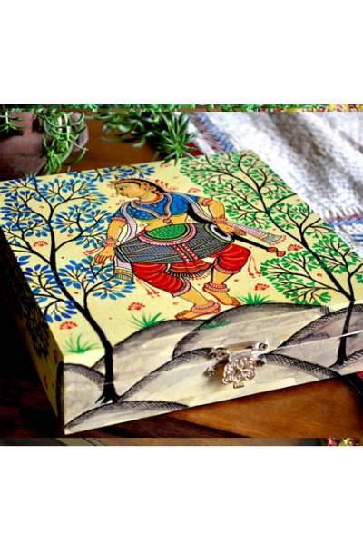 Vipakka-hand-painted-Jewelry-Box-pattachitra-art1-3-400x588 Hand Painted Jewelry Box - Vibrant Colors With Safe Storage for Your Jewelry