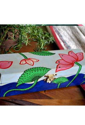 Vipakka hand painted Jewelry Box home decor pattachitra art