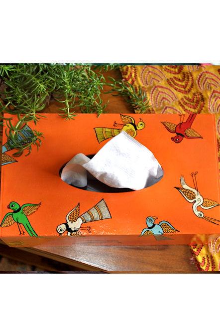 Vipakka hand painted Tissue Box home decor pattachitra art
