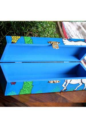 Vipakka hand painted Jewelry Box home decor pattachitra art
