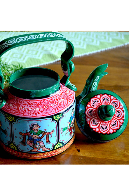 Vipakka-hand-painted-Kettle-home-decor-pattachitra-art2-2 Top Hand Painted Decorative Kettle Collections for a Trendy Living Room