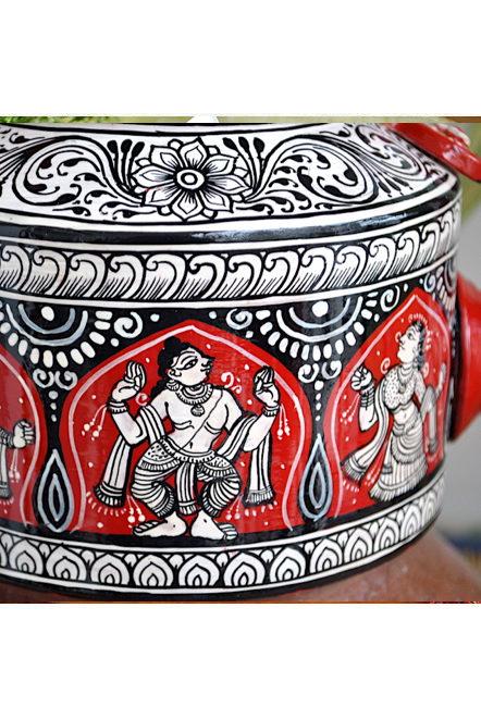 Vipakka hand painted Kettle home decor pattachitra art