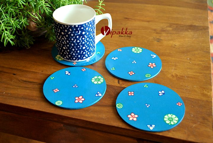 Hand painted Coaster inspired by Pattachitra Art Form - MDF Box with acrylic paint 12