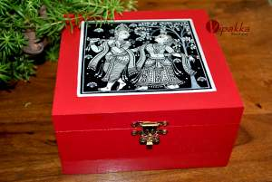 Hand-painted Jewelry Box inspired by Pattachitra Art Form - MDF Box with acrylic paint 32