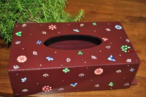 Hand painted Tissue Box inspired by Pattachitra Art Form - MDF Box with acrylic paint 12