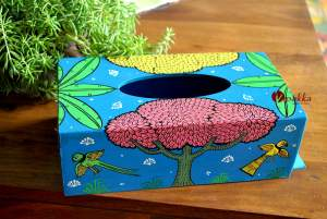 Hand painted Tissue Box inspired by Pattachitra Art Form - MDF Box with acrylic paint 22