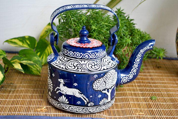 hand painted kettle from Vipakka with patachitra art - Vipakka