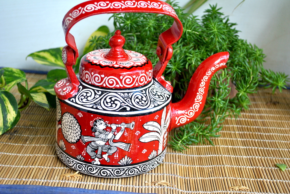 hand painted kettle from Vipakka with patachitra art 51