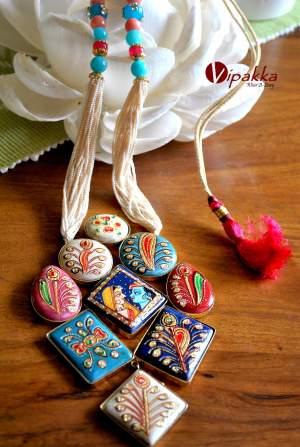 stone necklace - tanjore pendant