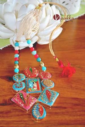 stone necklace - tanjore pendant 5