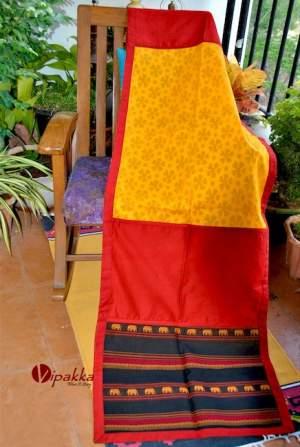 Handcrafted-premium-cotton-dupatta-or-stole-for-summer5-300x447 Handpainted Patachitra Motif Design Kurti - VK00017
