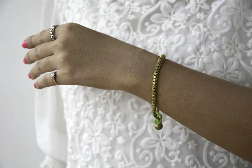 Handmade dokra bracelet