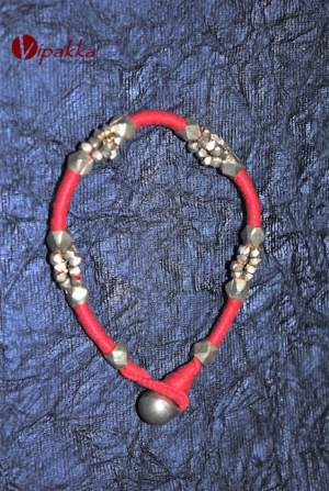 handcrafted-dokra-anklet-1-300x447 Handmade dokra bracelet with loop closure - VB00008