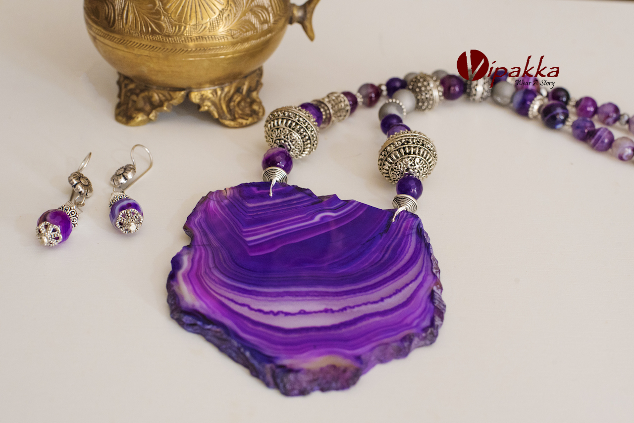 SAJ_1734 Unique and Trendy Agate Stone Necklaces You Should Add To Your Jewelry Box