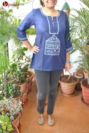 Handpainted Patachitra Kurti