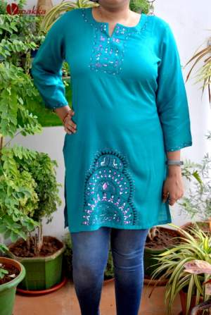 Handpainted Pattachitra Kurti