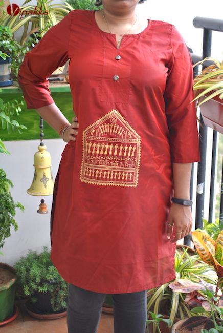 Handpainted Patachitra Kurti