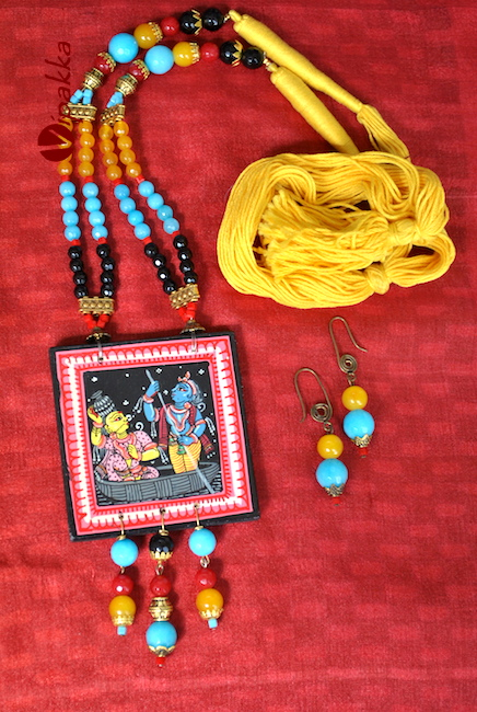 Hand-painted Pattachitra Necklace 2