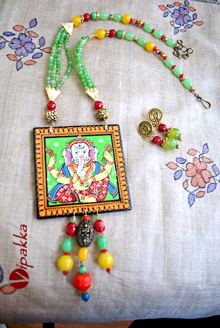 Hand-painted Pattachitra Necklace 4