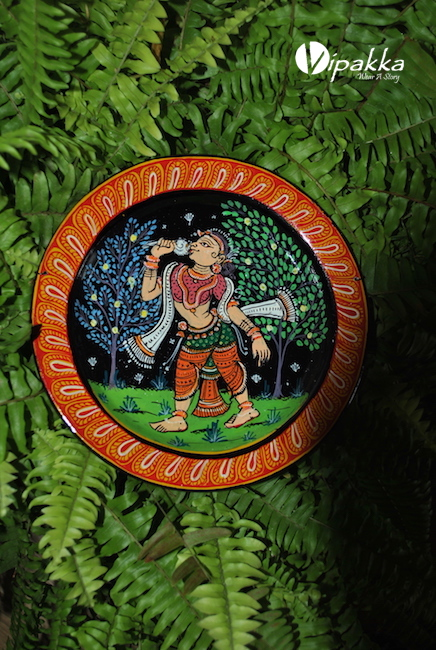 patachitra - hand painted plates for wall decor
