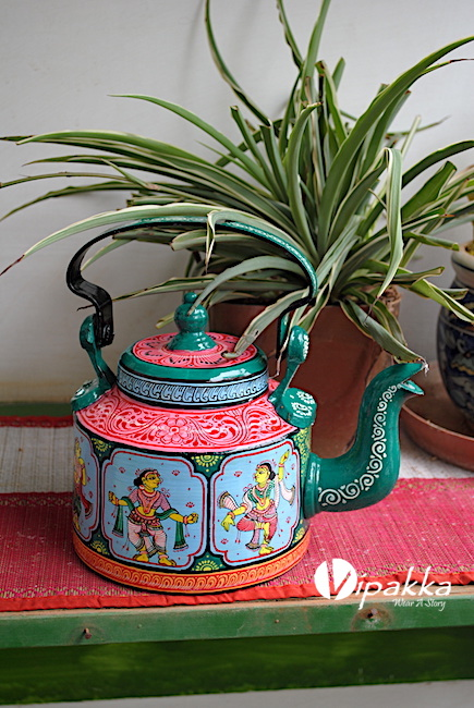 Handpainted kettle - Vipakka by Mitali